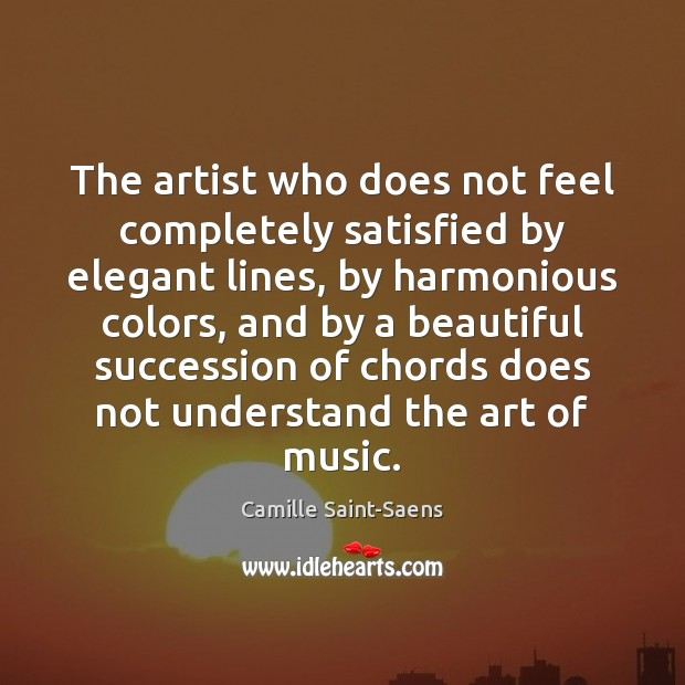 Image, The artist who does not feel completely satisfied by elegant lines, by