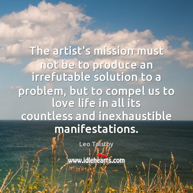 Image, The artist's mission must not be to produce an irrefutable solution to