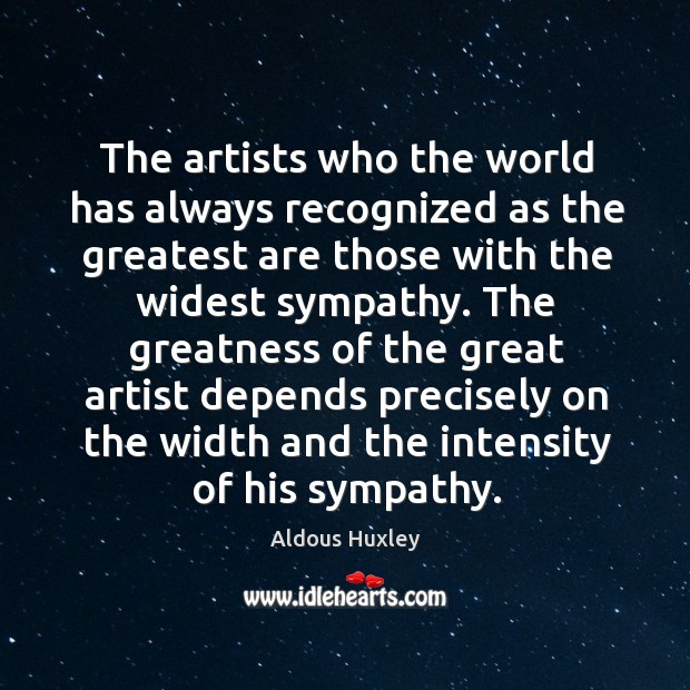 The artists who the world has always recognized as the greatest are Image