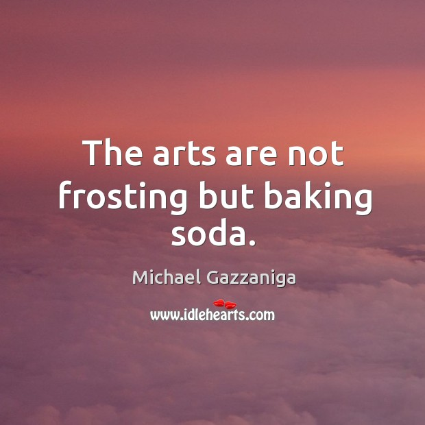 Image, The arts are not frosting but baking soda.