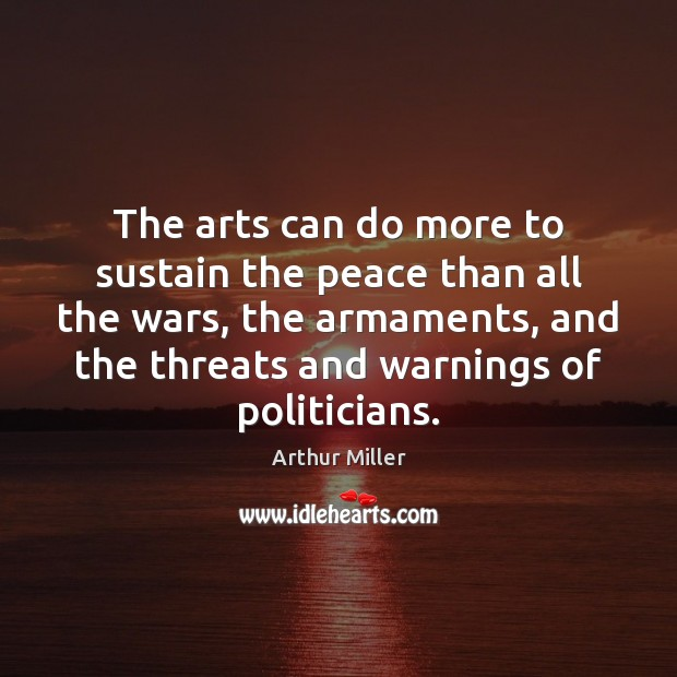 Image, The arts can do more to sustain the peace than all the