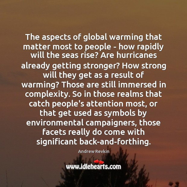 The aspects of global warming that matter most to people – how Image