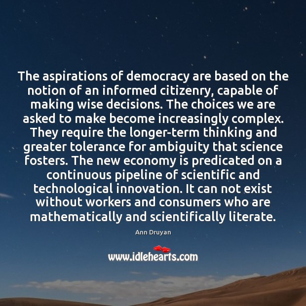 Image, The aspirations of democracy are based on the notion of an informed