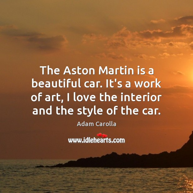Image, The Aston Martin is a beautiful car. It's a work of art,