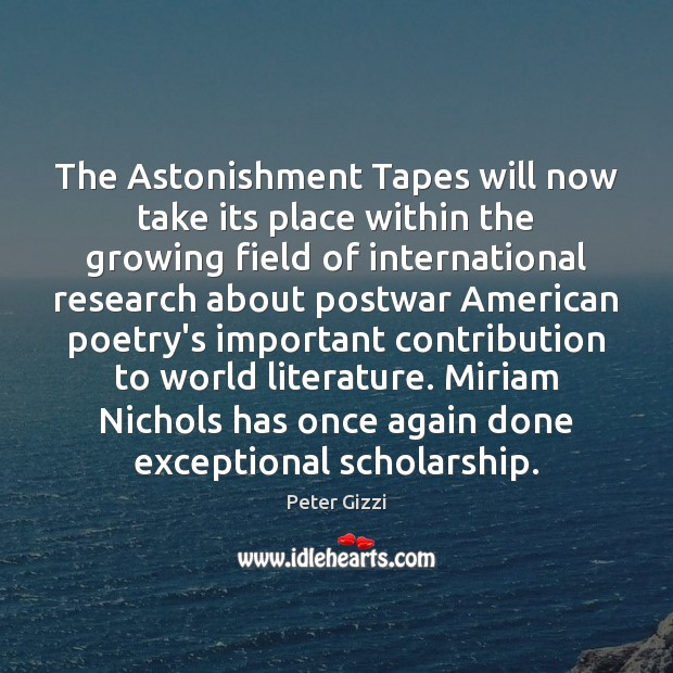 Image, The Astonishment Tapes will now take its place within the growing field