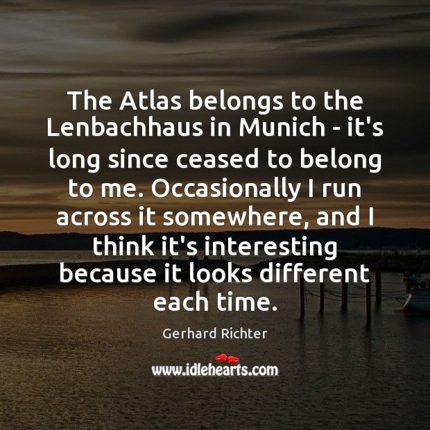 Image, The Atlas belongs to the Lenbachhaus in Munich – it's long since