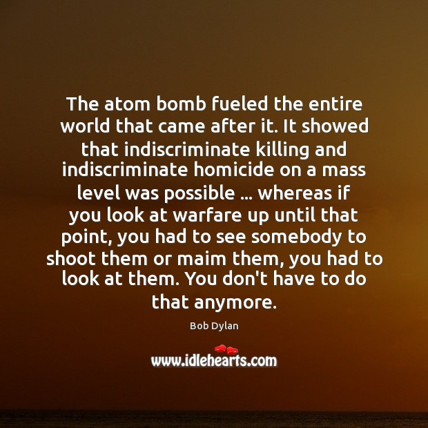 The atom bomb fueled the entire world that came after it. It Image