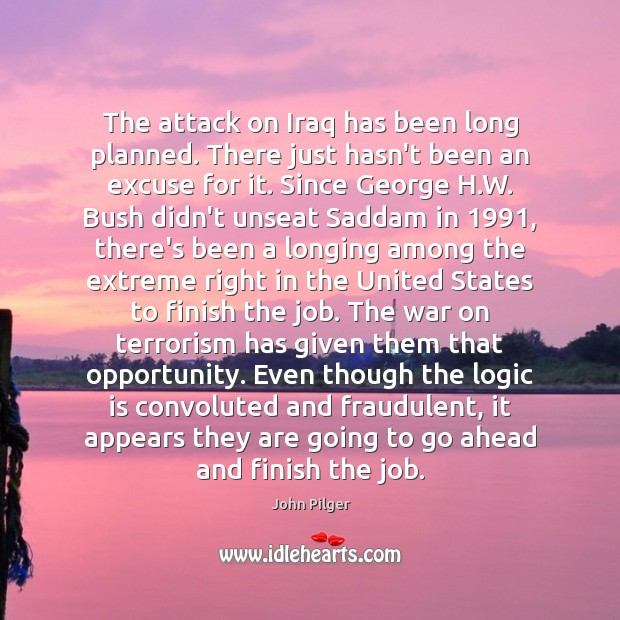 Image, The attack on Iraq has been long planned. There just hasn't been