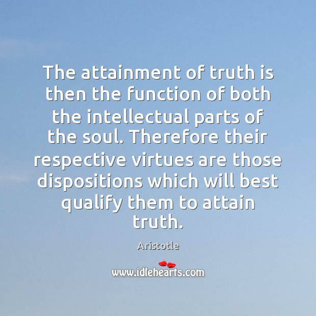 Image, The attainment of truth is then the function of both the intellectual