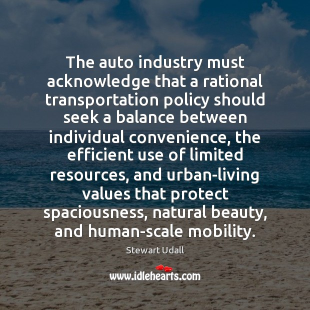 Image, The auto industry must acknowledge that a rational transportation policy should seek