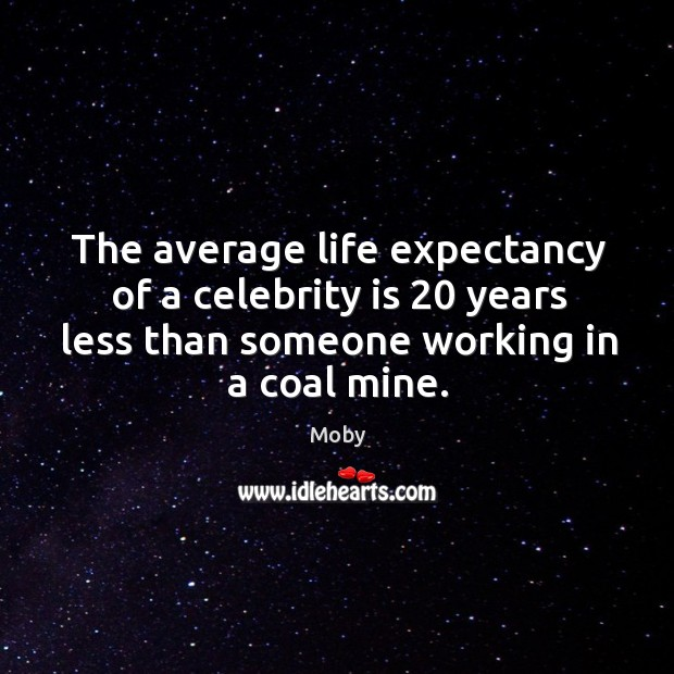 Image, The average life expectancy of a celebrity is 20 years less than someone