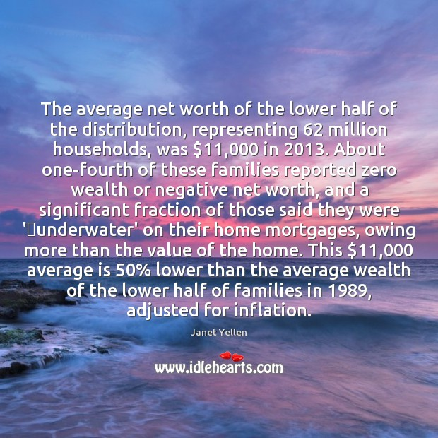 Image, The average net worth of the lower half of the distribution, representing 62