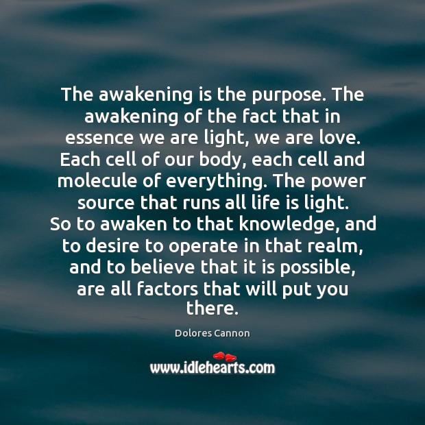 The awakening is the purpose. The awakening of the fact that in Awakening Quotes Image