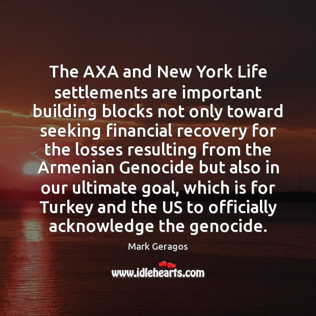 Image, The AXA and New York Life settlements are important building blocks not