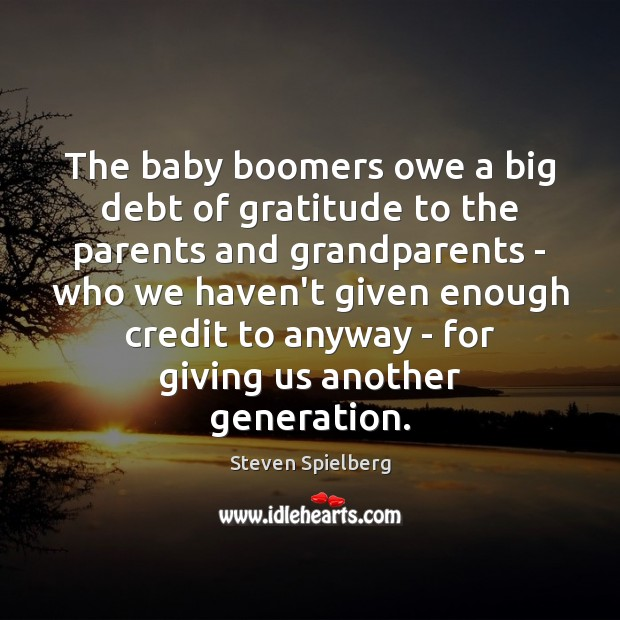 Image, The baby boomers owe a big debt of gratitude to the parents