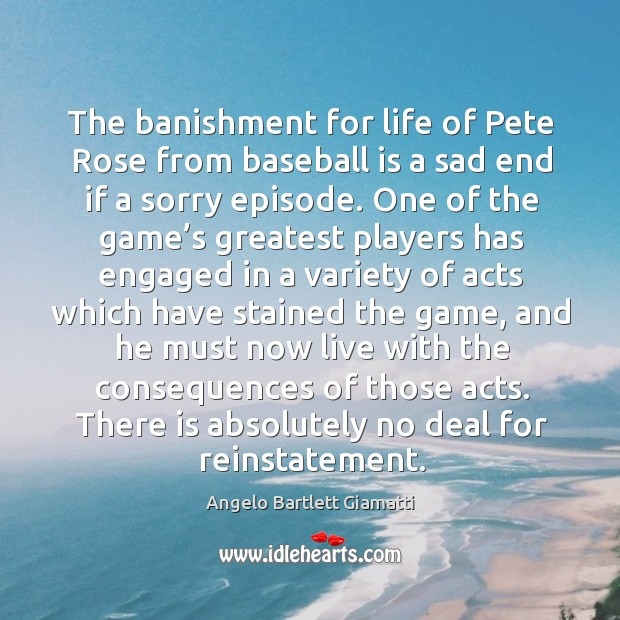 Image, The banishment for life of pete rose from baseball is a sad end if a sorry episode.