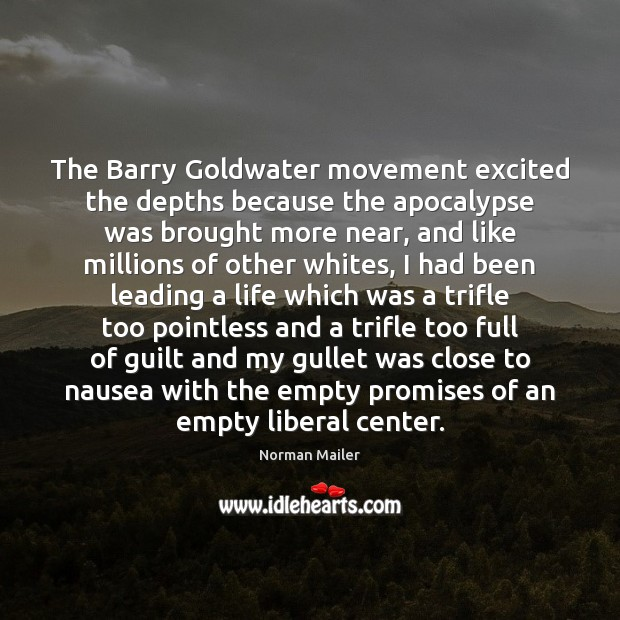 Image, The Barry Goldwater movement excited the depths because the apocalypse was brought