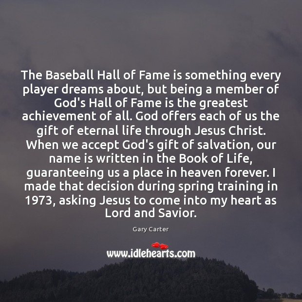 Image, The Baseball Hall of Fame is something every player dreams about, but