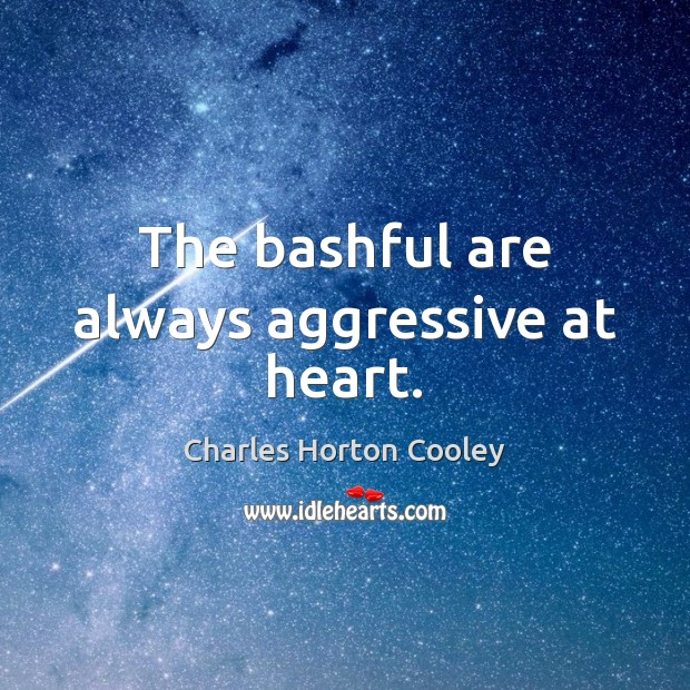 Image, The bashful are always aggressive at heart.