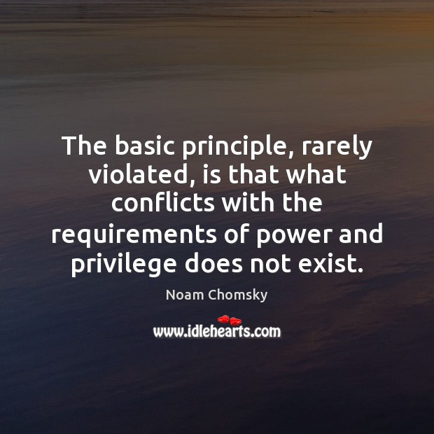The basic principle, rarely violated, is that what conflicts with the requirements Image