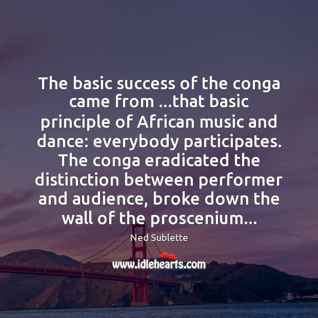Image, The basic success of the conga came from …that basic principle of