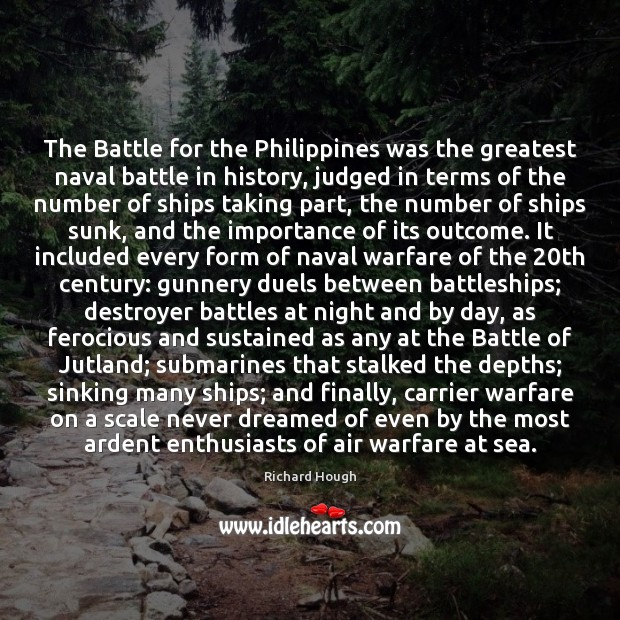 The Battle for the Philippines was the greatest naval battle in history, Image