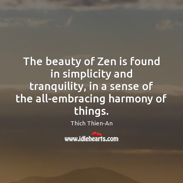 The beauty of Zen is found in simplicity and tranquility, in a Image