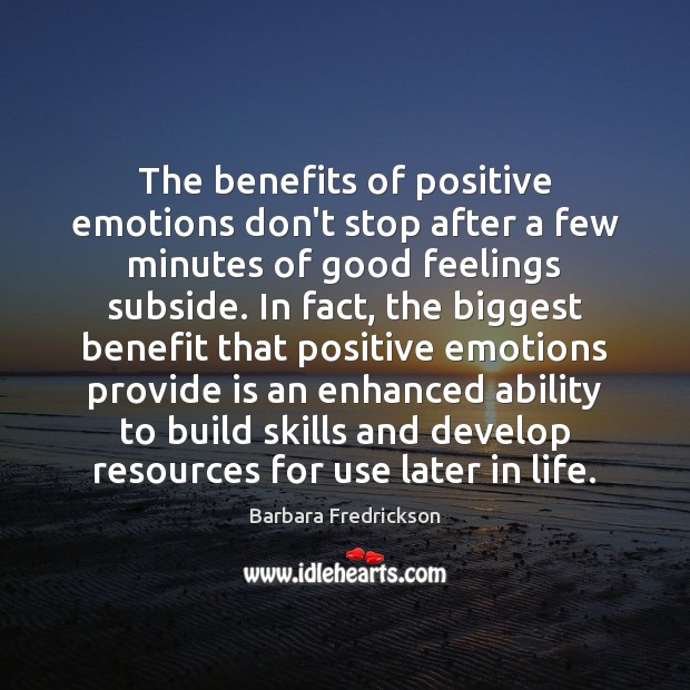 Image, The benefits of positive emotions don't stop after a few minutes of