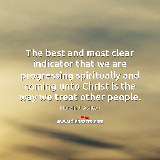 Image, The best and most clear indicator that we are progressing spiritually and