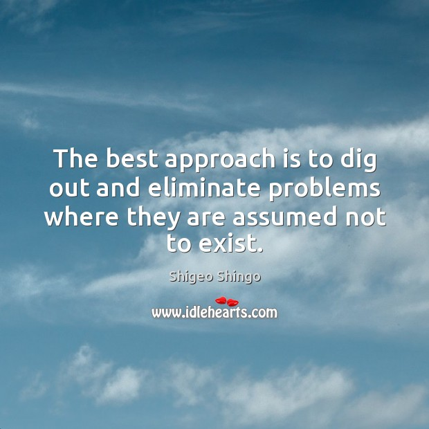 The best approach is to dig out and eliminate problems where they Image