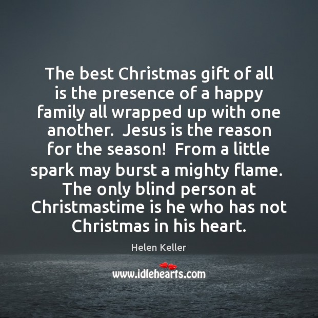 The best Christmas gift of all is the presence of a happy Christmas Quotes Image