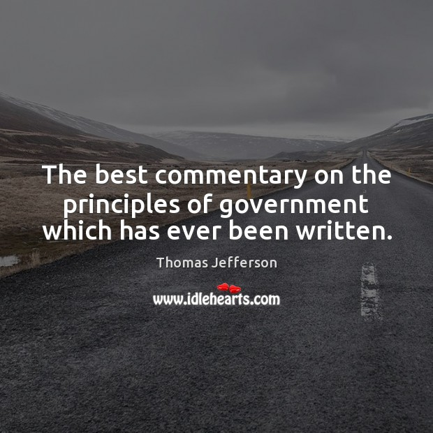 The best commentary on the principles of government which has ever been written. Image