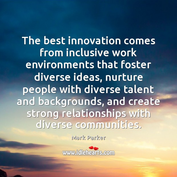 The best innovation comes from inclusive work environments that foster diverse ideas, Image