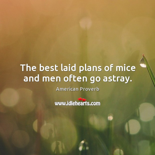 Image, The best laid plans of mice and men often go astray.