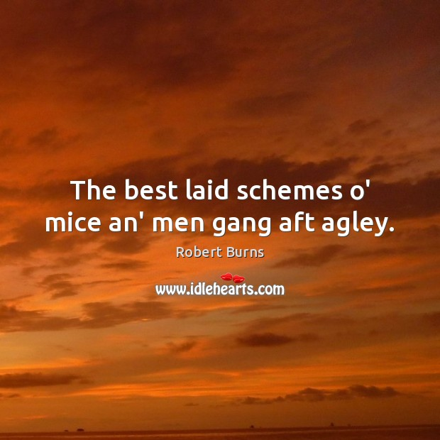 Image, The best laid schemes o' mice an' men gang aft agley.