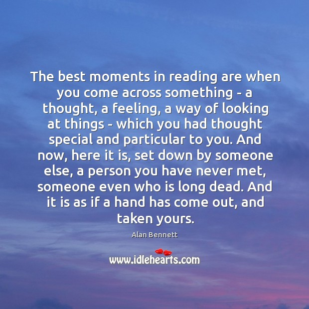 Image, The best moments in reading.