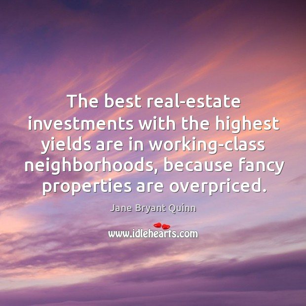 The best real-estate investments with the highest yields are in working-class neighborhoods Image