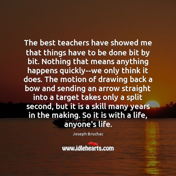 Image, The best teachers have showed me that things have to be done