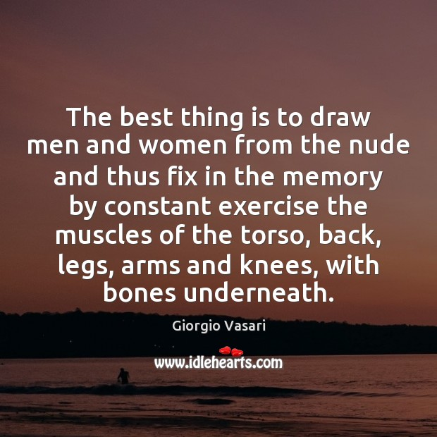 Image, The best thing is to draw men and women from the nude