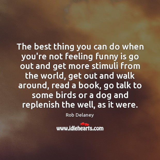 The best thing you can do when you're not feeling funny is Rob Delaney Picture Quote