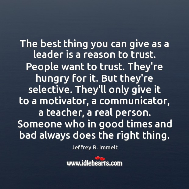 The best thing you can give as a leader is a reason Image