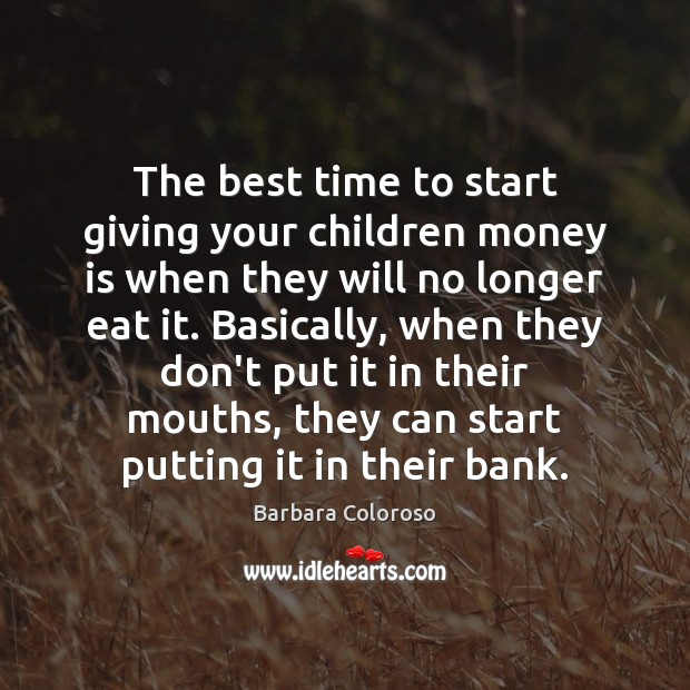 Image, The best time to start giving your children money is when they