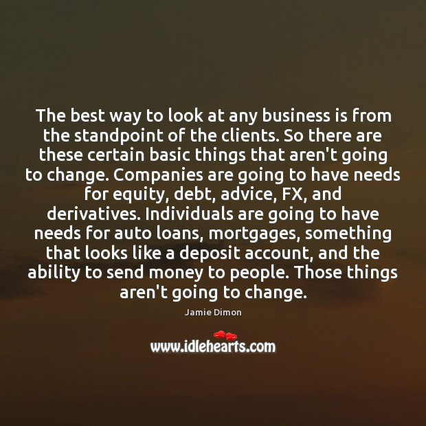 The best way to look at any business is from the standpoint Image