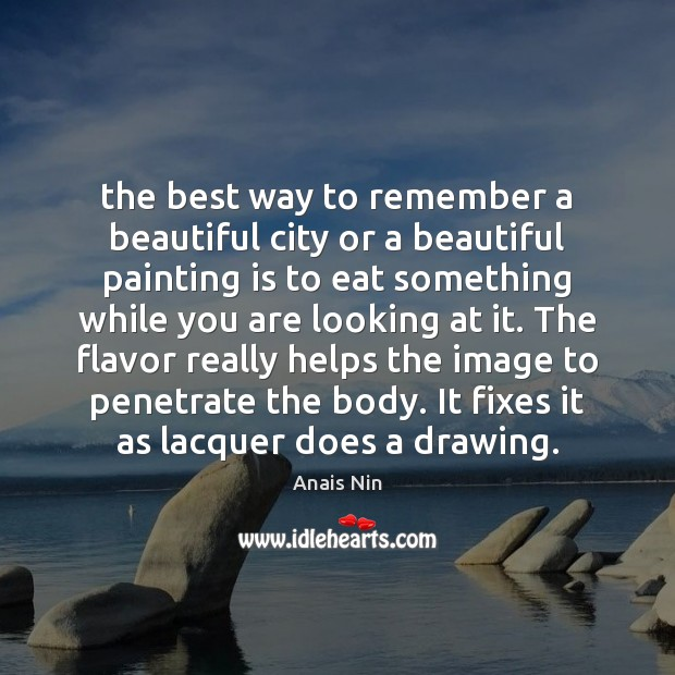 Image, The best way to remember a beautiful city or a beautiful painting