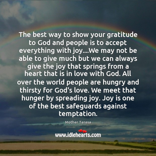 Image, The best way to show your gratitude to God and people is