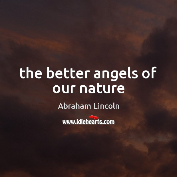 The better angels of our nature Image