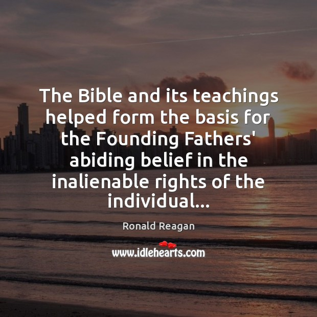Image, The Bible and its teachings helped form the basis for the Founding