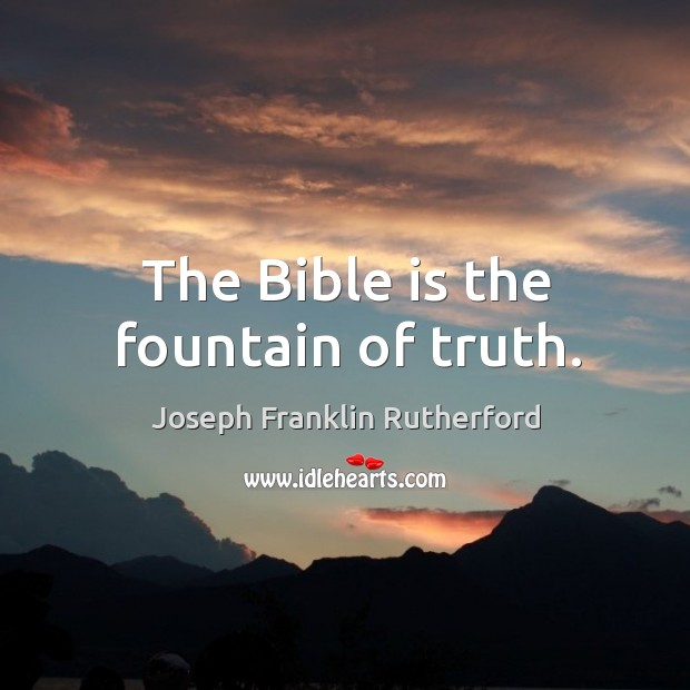 The bible is God's sacred word of truth. Image