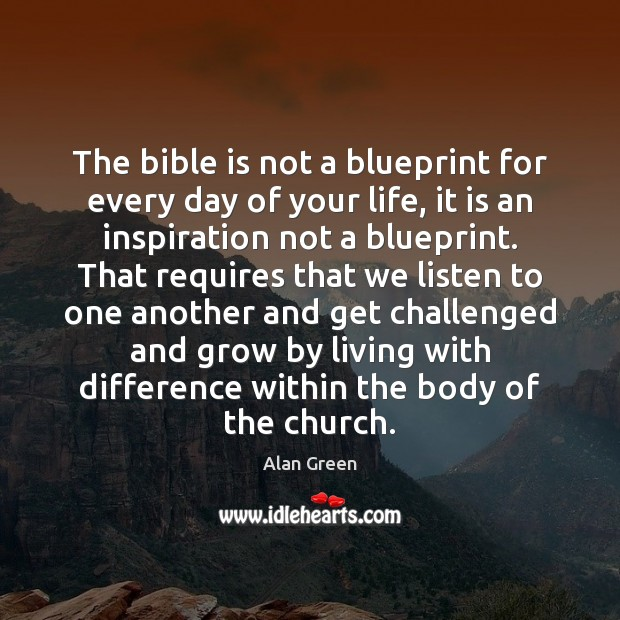 Image, The bible is not a blueprint for every day of your life,