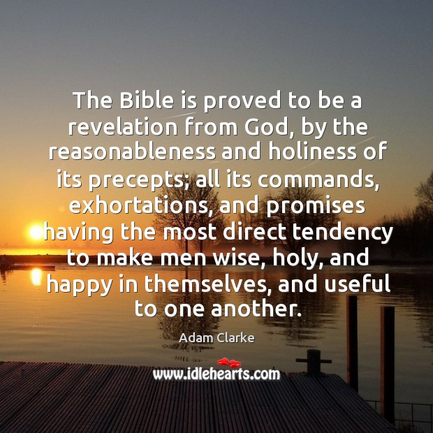 Image, The bible is proved to be a revelation from God